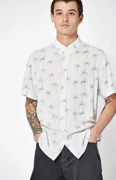 Barney Cools Holiday Palm Short Sleeve Button Up Camp Shirt