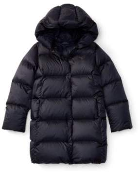 Ralph Lauren Quilted Hooded Down Coat Collection Navy L