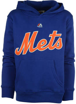 Majestic New York Mets Wordmark Fleece Hoodie, Big Boys (8-20)