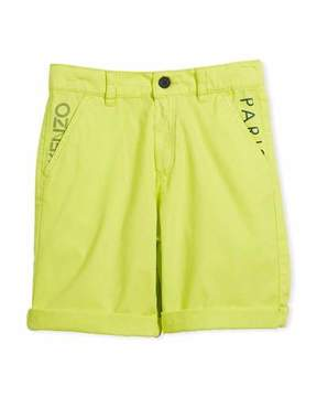 Kenzo Chino Shorts w/ Logo Pockets, Size 4-6