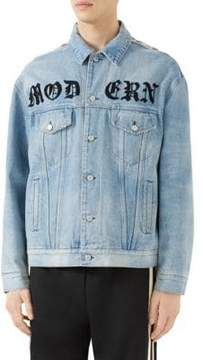 Gucci Oversize Denim Jacket with Appliques