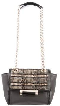 Diane von Furstenberg Mini Snakeskin-Trimmed 440 Bag