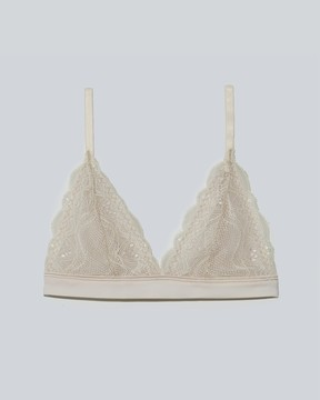 Frank and Oak Sokoloff x Frankie Lace Bralette in Taupe
