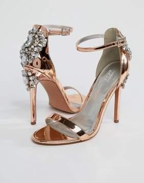 Asos HIGH ROLLER Embellished Heeled Sandals