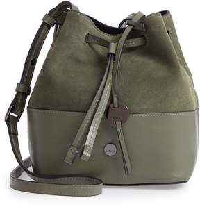 Lodis Los Angeles Small Blake RFID Leather Bucket Bag