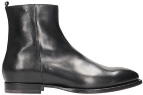 Buttero Black Leather Boots