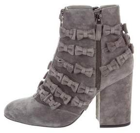 Laurence Dacade 2017 Meryl Suede Bow Ankle Boots