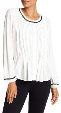 Velvet by Graham & Spencer Pintuck Woven Blouse