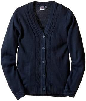 Nautica Girls Plus Boyfriend Sweater with Seed Stitch Girl's Sweater