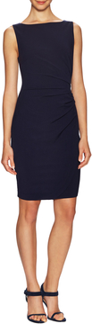 Ava & Aiden Women's Pleated Side Seam Sheath Dress