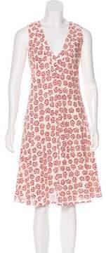 Cacharel Crepe Floral Dress