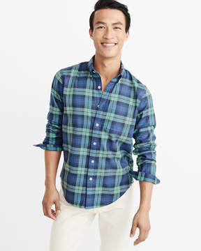 Abercrombie & Fitch Washed Plaid Shirt