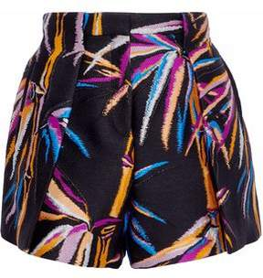 Emilio Pucci Pleated Metallic Jacquard Shorts