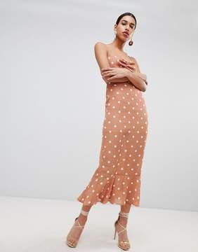 Spotty midi dress