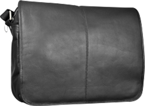 David King Leather 161 Flapover Messenger