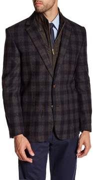 English Laundry Grey & Blue Plaid Butler Hybrid Trim Fit Blazer