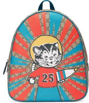 Gucci Children's GG Supreme rocket cat backpack