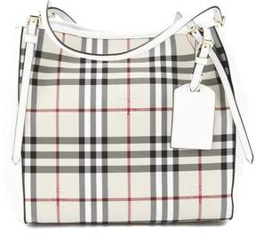 Burberry Stone White Horseferry Check Small Canter Tote Bag - ONE COLOR - STYLE