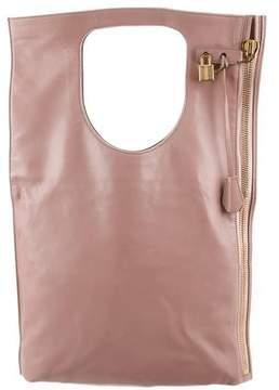 Tom Ford Alix Leather Fold-Over Bag
