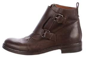 Sartore Leather Monk Strap Boots