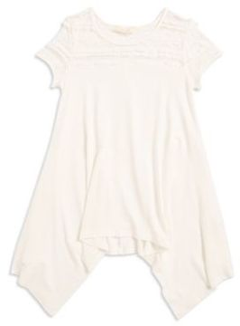 Soprano Girl's Lace Accented Asymmetrical Top