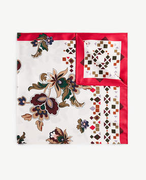 Ann Taylor Shawl Floral Silk Little Scarf