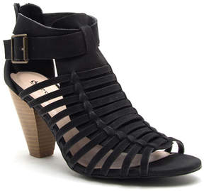 Qupid Black Chamber Sandal - Women