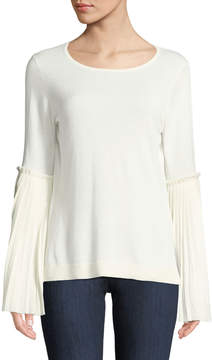 Cynthia Steffe Cece By Pleated Bell-Sleeve Sweater