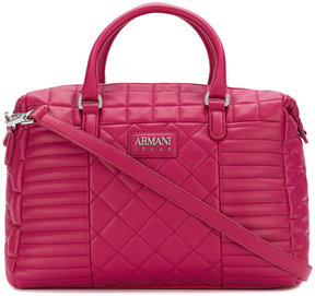 Armani Jeans quilted tote bag