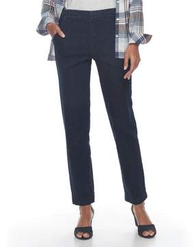 Croft & Barrow Women's Pull-On Tapered-Leg Jeans