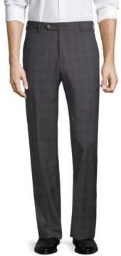 Zanella Devon Plaid Wool Trousers