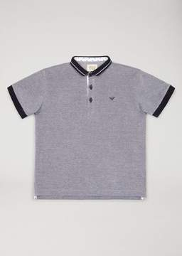Armani Junior Polo Shirt With Contrast Trims