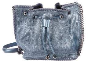 Stella McCartney Mini Metallic Falabella Bucket Bag