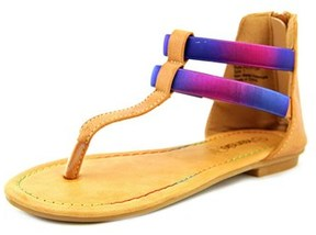 KensieGirl T- Strap Sandal Youth Open Toe Synthetic Thong Sandal.