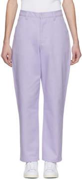 Acne Studios Purple Aleq Trousers