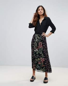 French Connection Bluhm Bottero Embroidered Mesh Maxi Skirt