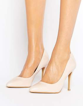 Head Over Heels By Dune Alice Nude Patent Heeled Pumps
