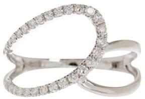 Bony Levy 18K White Gold Diamond Double Loop Ring - 0.28 ctw
