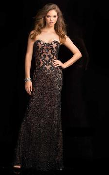 SCALA - 48680 Sweetheart Prom Dress with Crystal Embellishments