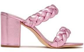 Rachel Zoe Demi Braided Metallic Leather Sandals