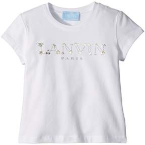 Lanvin Kids Star Logo T-Shirt Girl's T Shirt
