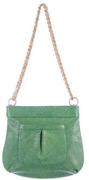 Lauren Merkin Embossed Leather Shoulder Bag
