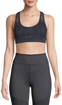 Electric Yoga Women's Open-Knit Sports Bra
