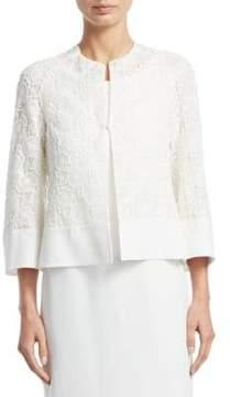 Akris Octagon Embroidered Jacket