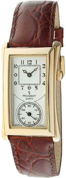 Peugeot Mens Brown Leather Strap Vintage Doctor's Watch