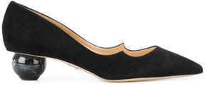 Paul Andrew marbled heel pumps