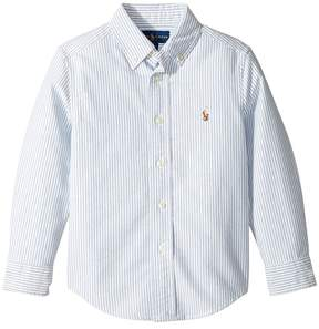 Polo Ralph Lauren Striped Cotton Oxford Shirt Boy's Long Sleeve Button Up
