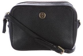 Tory Burch Grained Leather Crossbody Bag - BLACK - STYLE