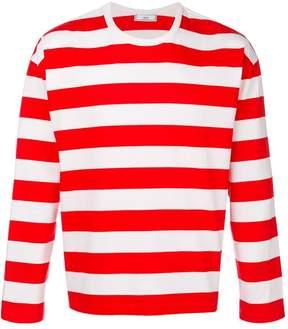 Ami Alexandre Mattiussi Striped Long Sleeves T-shirt