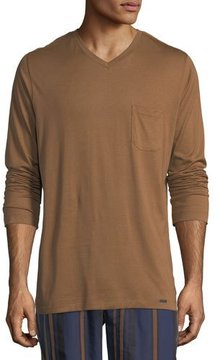 Hanro Long-Sleeve Pocket T-Shirt